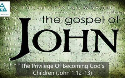 #5: The Privilege of Becoming God's Children[Sermon]