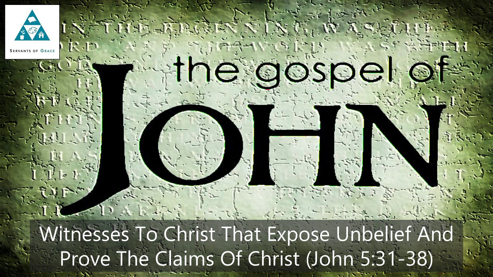 #29: Witnesses to Christ that Expose Unbelief and Prove The Claims of Christ[Sermon] 1