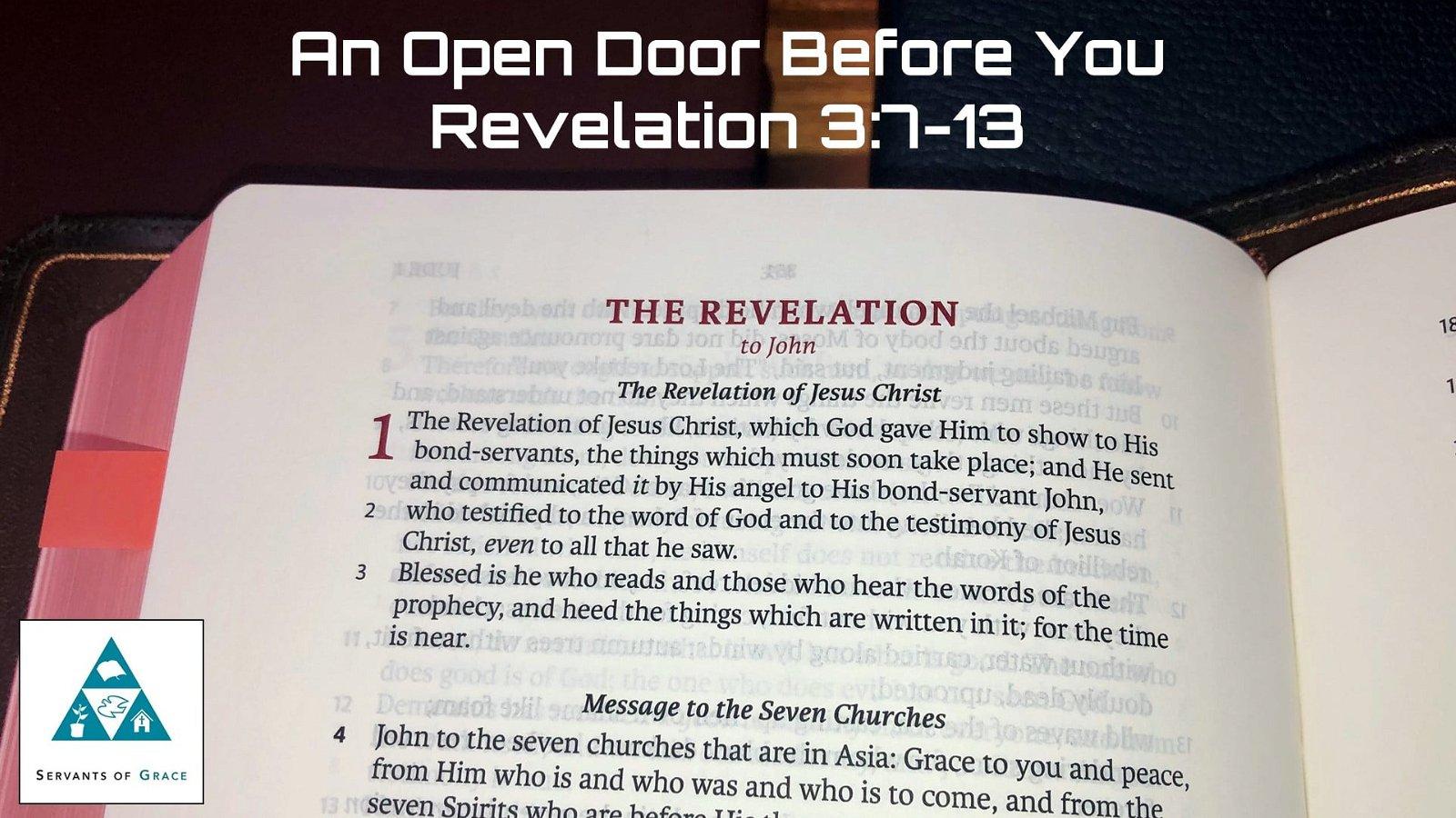 #14: An Open Door Before You[Sermon] 1