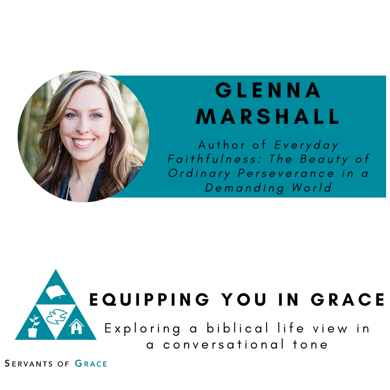 Glenna Marshall-- Everyday Faithfulness: The Beauty of Ordinary Perseverance in a Demanding World 1
