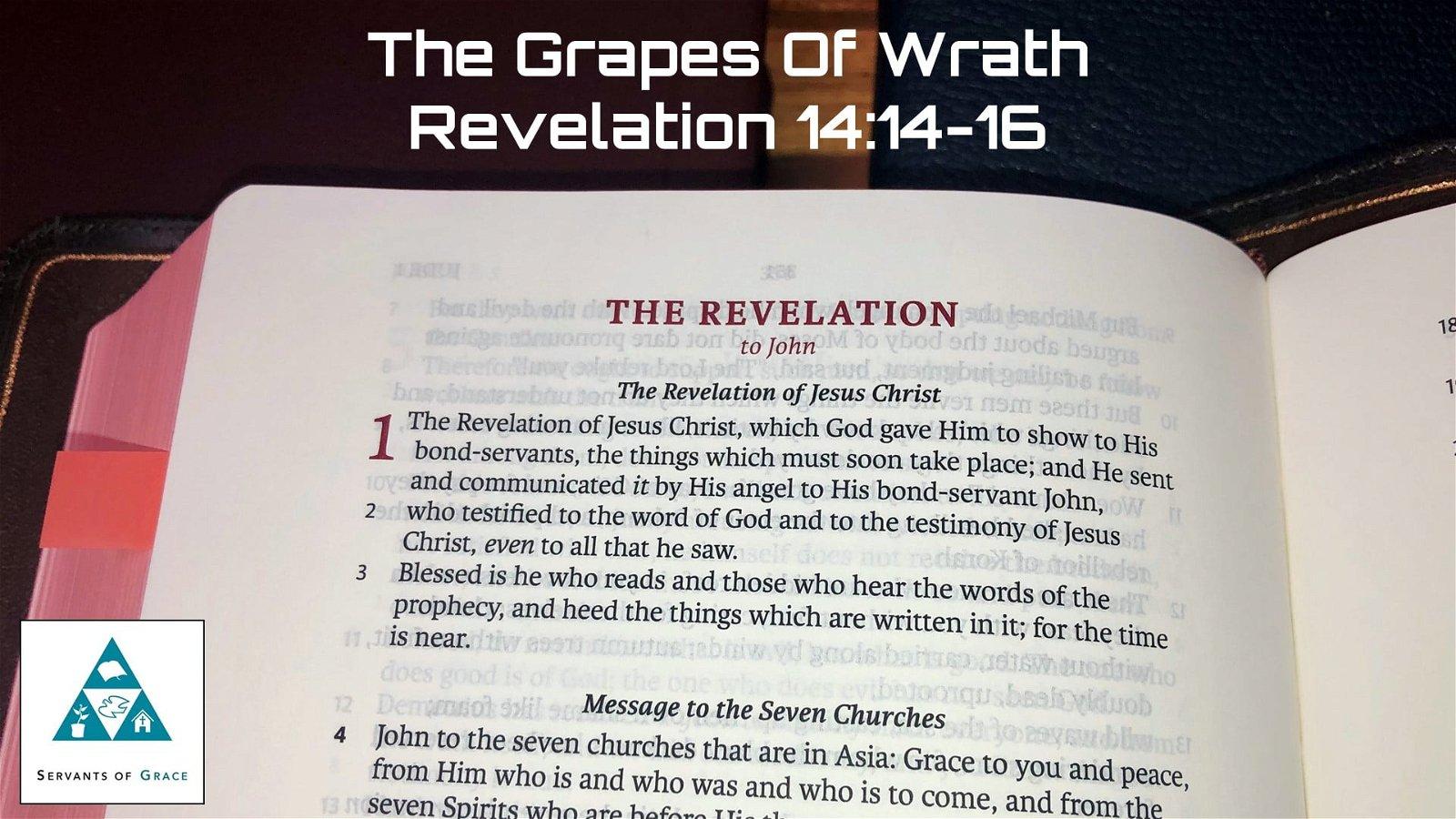 #39: The Grapes of Wrath[Sermon] 1